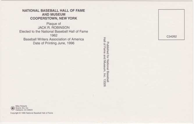 Jackie Robinson - Baseball Hall of Fame - Cooperstown, New York