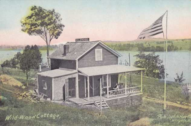 Wildwood Cottage or Camp - Near Wright, New York or Wrights Corners, NY - Divided Back