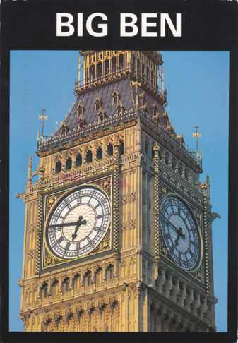 Big Ben the Clock - London, England - Mother's Day Cancel in London in 1996