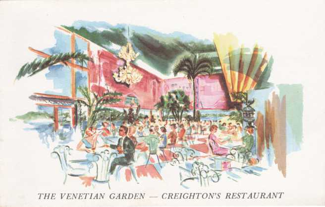 The Venetian Garden - Creighton's Restaurant - US Route 1 - Fort Lauderdale, Florida