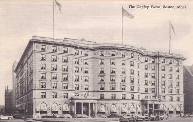 The Copley Plaza Hotel - Copyley Square - Boston, Massachusetts - Linen Card