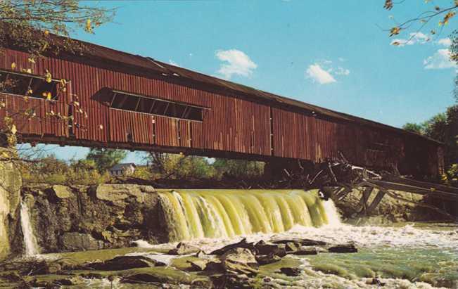 Bridgeton Covered Bridge and Falls - Parke County, Indiana