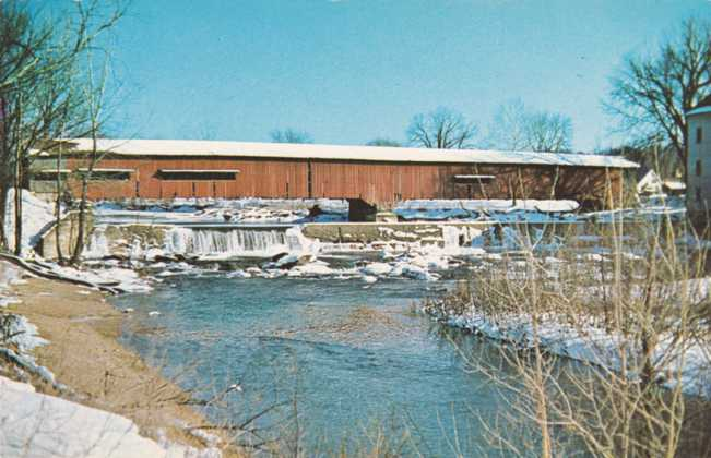 Bridgeton Covered Bridge in Winter - Parke County, Indiana