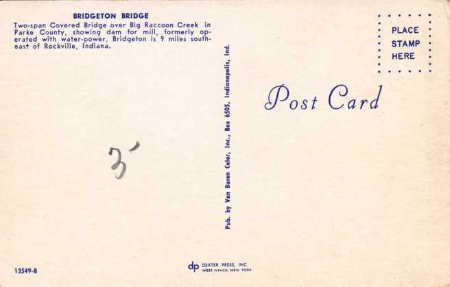 Bridgeton Covered Bridge near Mill - Parke County, Indiana