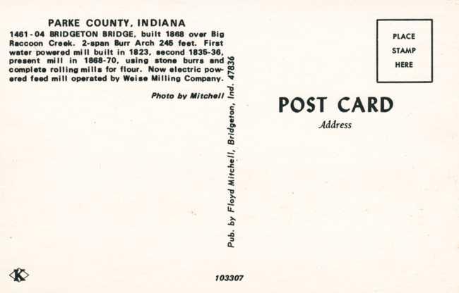 Bridgeton Covered Bridge and Mill - Parke County, Indiana