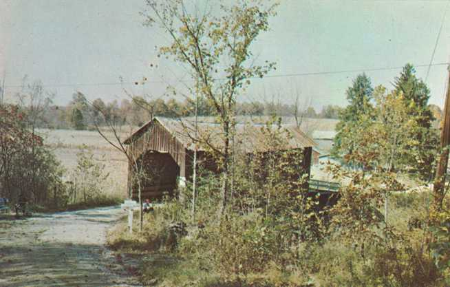 Covered Bridge between Beanblossom and Nashville, Indiana