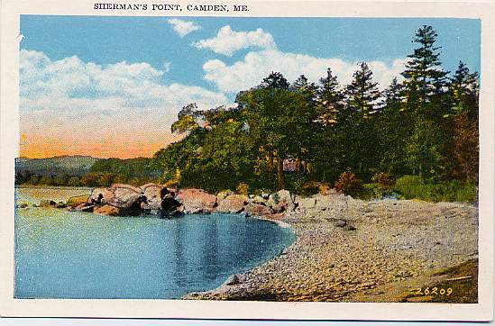 Sherman's Point - Camden, Knox County, Maine - near Rockland - White Border