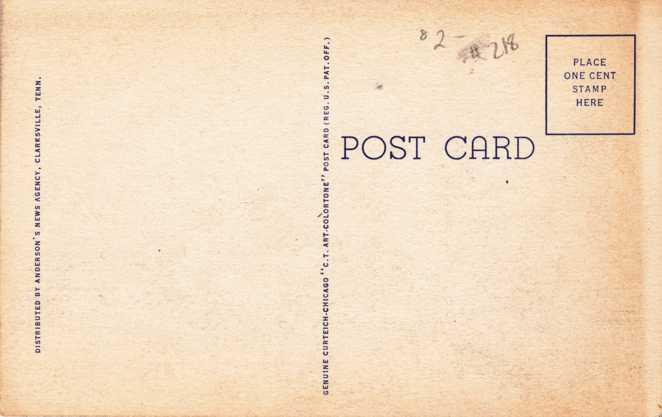 War Department Theatre - Camp Campbell, Kentucky - Linen Card