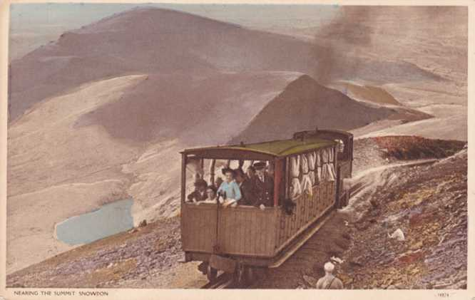 Mountain Railway at Mount Snowden - Wales, United Kingdom - Divided Back