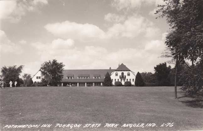 RPPC Potawatomi Inn - Pokagon State Park - Angola, Indiana - Real Photo