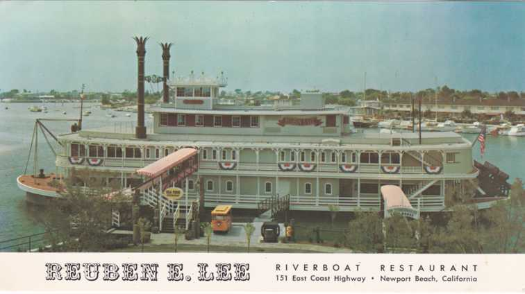 The Reuben E Lee Riverboat Restaurant - Newport Beach, California