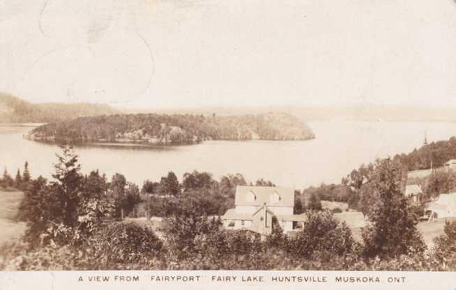 RPPC Fairy Lake, Huntsville - Muskoka, Ontario, Canada - Real Photo