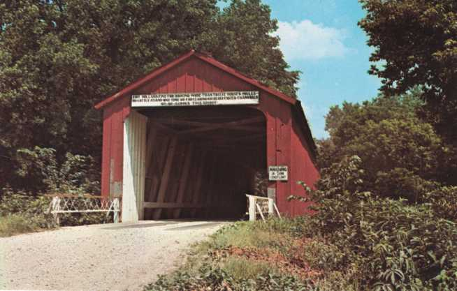 Spring Creek Covered Bridge near Princeton, Illinois