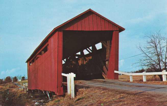 Covered Bridge at Spring Creek - near Springfield, Illinois