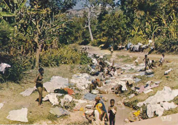 Washerwomen doing Laundry - Jecmel, Haiti