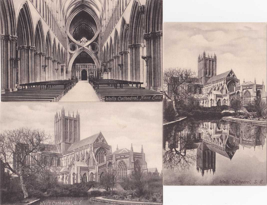 (3 cards) Wells Cathedral, Somerset, England - Divided Back