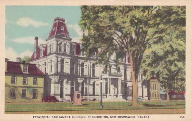 Provincial Parliament Building - Fredericton, New Brunswick, Canada - pm 1957