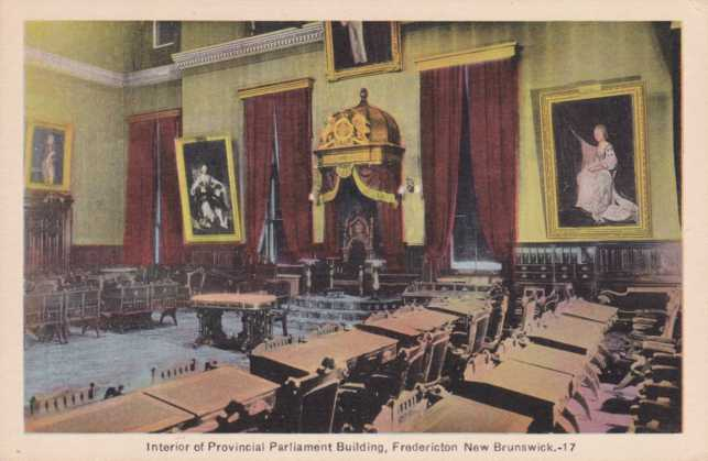 Interior of Provincial Parliament Building - Fredericton, New Brunswick, Canada
