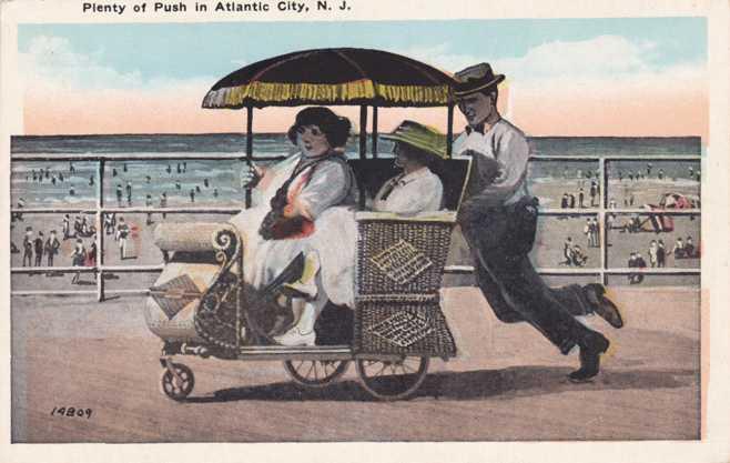 playle s plenty of push rolling chair atlantic city boardwalk