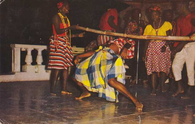 Dancing the Limbo - Jamaica, BWI