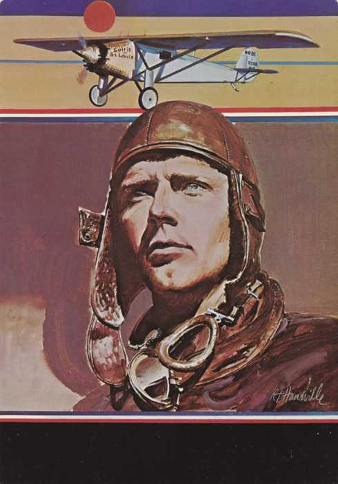US 1684 - SOPEX Commemorative Cancel - Lindbergh Post Card
