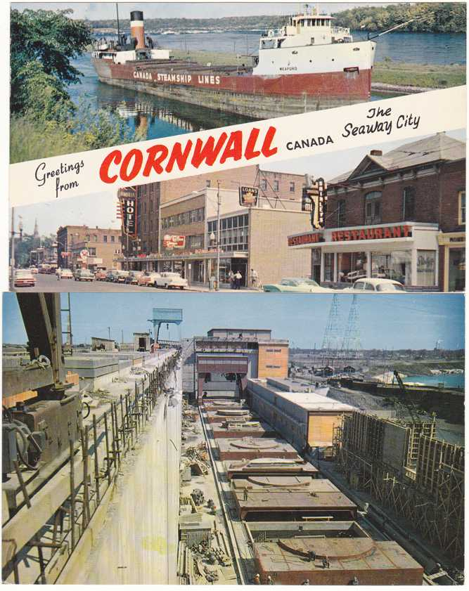 (2 cards) Greetings from Cornwall, Ontario, Canada