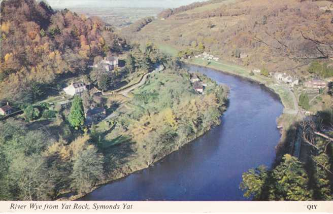 River Rye from Yat Rock - Symonds Yat - Herefordshire, England