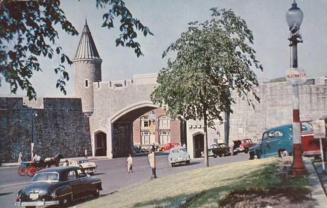 Porte St Jean - St John's Gate - Quebec, Canada