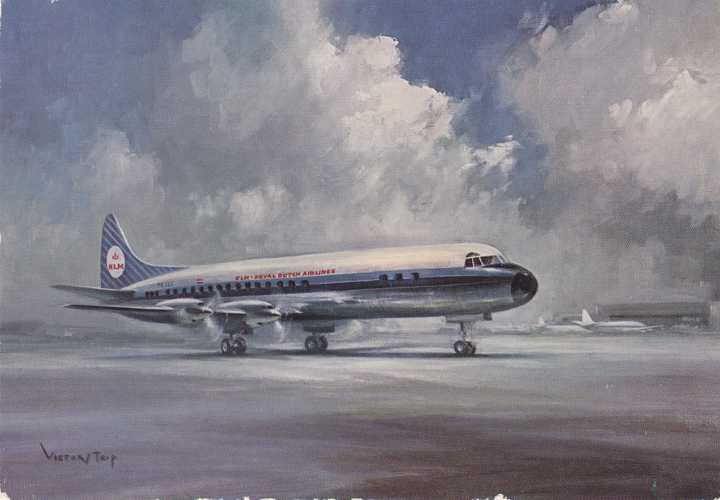 KLM - Royal Dutch Airlines - Lockheed Prop Jet Electra