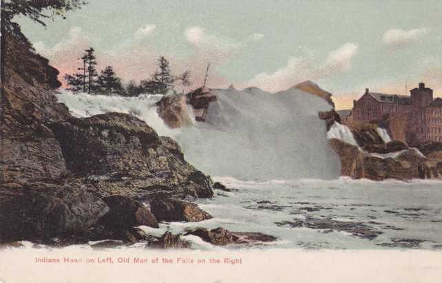 Indiana Head and Old Man of the Falls - near Auburn, Maine - Undivided Back