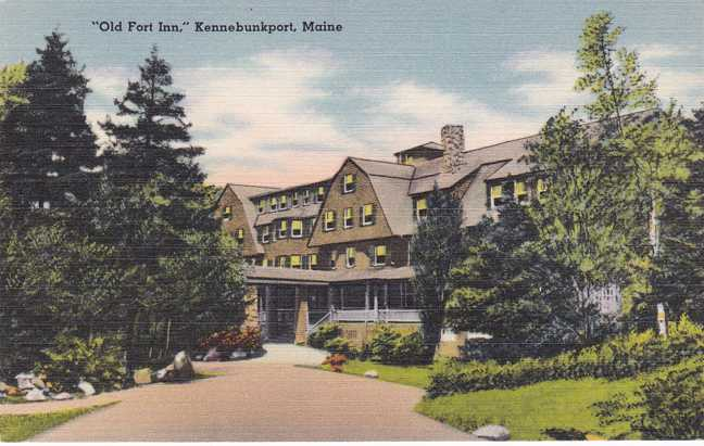 The Old Fort Inn - Hotel - Kennebunkport, Maine - Linen Card