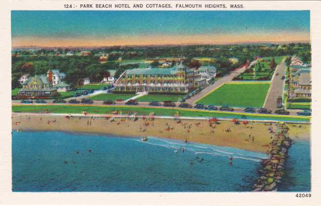 Park Beach Hotel and Cottages - Falmouth Heights, Cape Cod, Massachusetts - Linen Card