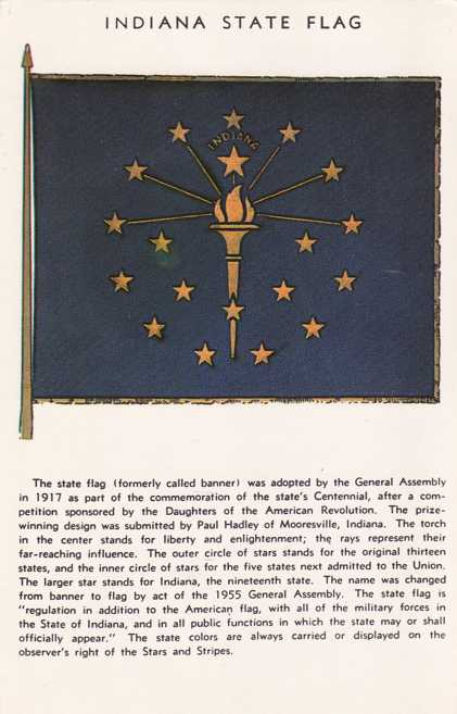 Indiana State Flag - (Called State Banner before 1955)