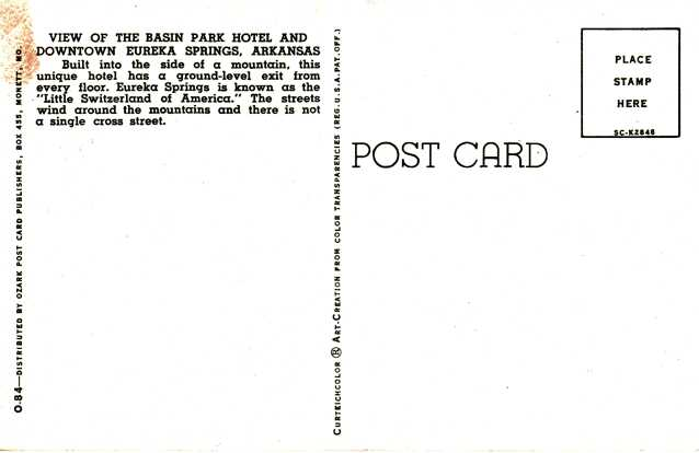 Basin Park Hotel - Eureka Springs, Arkansas