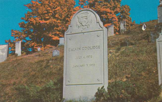 Grave Stone of Calvin Coolidge - Plymouth, Vermont