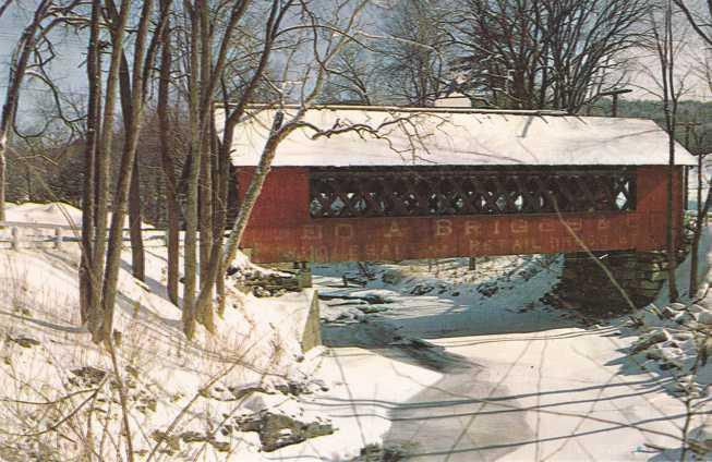 The Creamery Covered Bridge in Winter - Brattleboro, Vermont