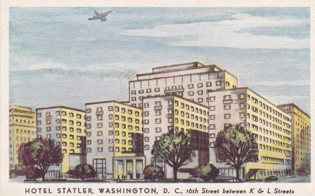 Hotel Statler in Washington, DC - Linen Card