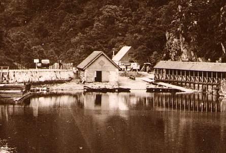 RPPC The Pier, Loch Katrine, Trossachs - Scotland, United Kingdom - Real Photo
