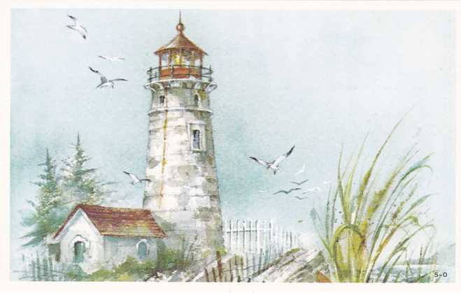 Attractive Lighthouse Watercolor - Art - Painting - Red Farm Studio Pawtucket RI