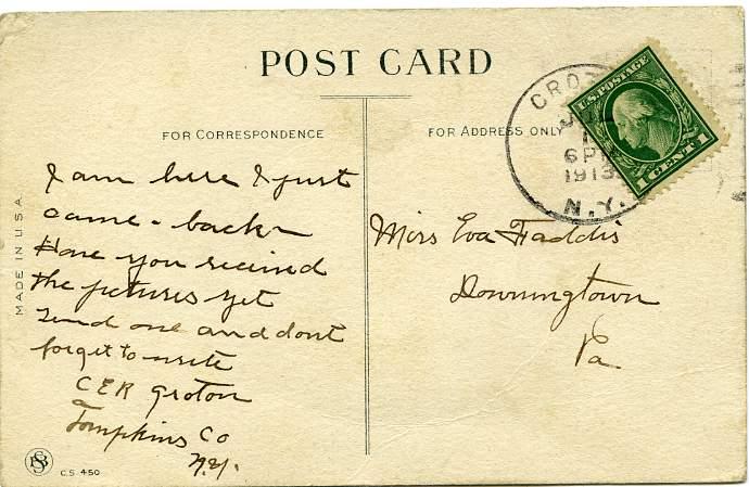 Dutch Girl - Red Heart - Groton, New York - pm 1913 - Divided Back