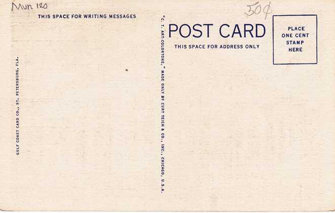 Oudoor Post Office at St Petersburg, Florida - Linen Card