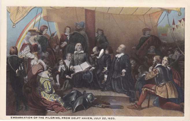 Embarkation of Pilgrims from Delft Haven - Displayed in Capital Rotunda, Washington, DC - WB