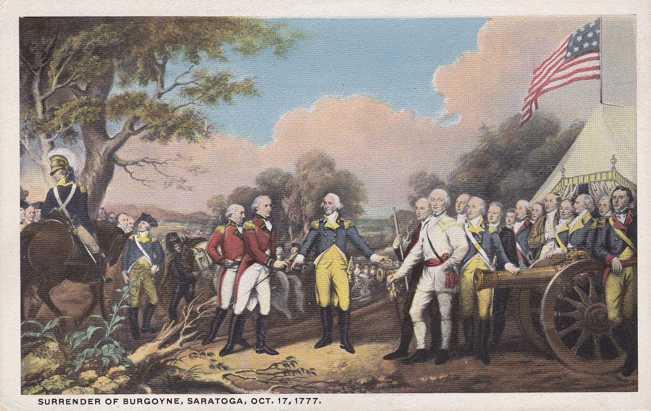 Surrender of Burgoyne at Saratoga - Displayed in Capital Rotunda, Washington, DC - White Border