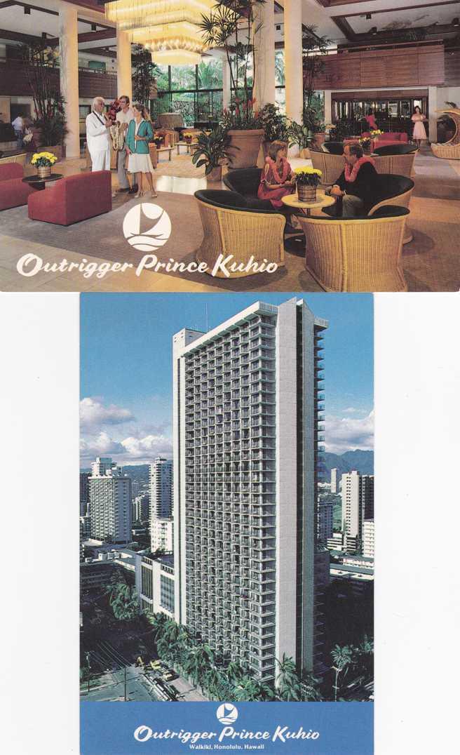 (2 cards) Outrigger Prince Kuhio Hotel - Waikiki, Honolulu, Hawaii