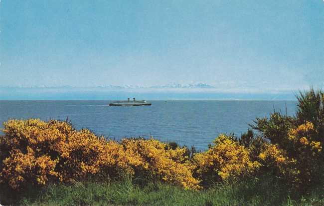 Steamer in the Juan de Fuca Strait - Victoria, British Columbia, Canada