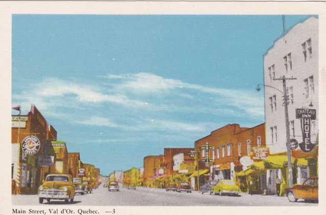 Main Street Scene - Val d'Or, Quebec, Canada