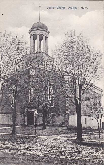 Baptist Church - Webster, New York - Near Rochester - pm 1910 - Divided Back