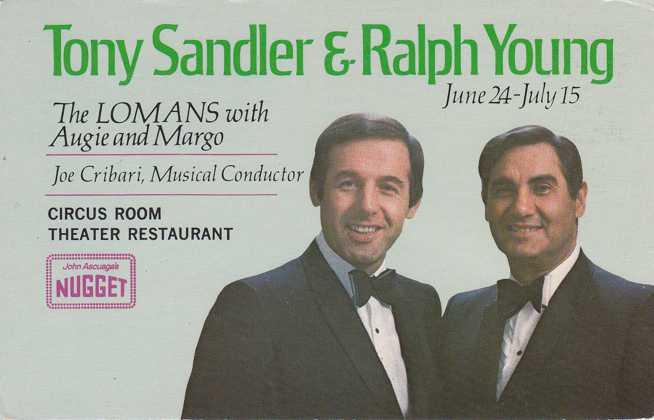 Sandler and Young at Circus Room - Nugget Casino, Reno, Nevada