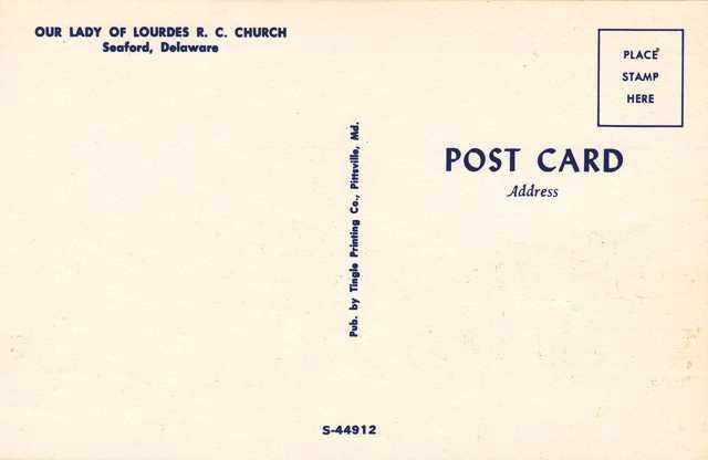 Our Lady of Lourdes Roman Catholic Church - Seaford, Delaware