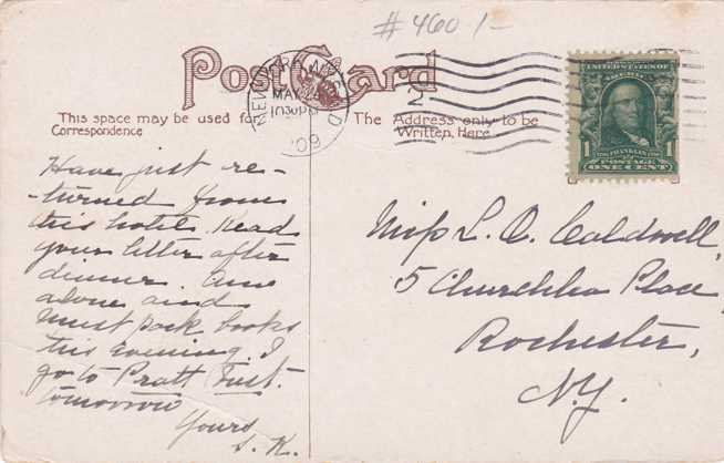Hotel Gramatan, Lawrence Park - Bronxville, New York - pm 1909 - Divided Back